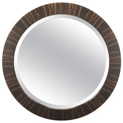 "Davidson's Circular ""Collier"" Mirror, in Macassar Ebony Wood"