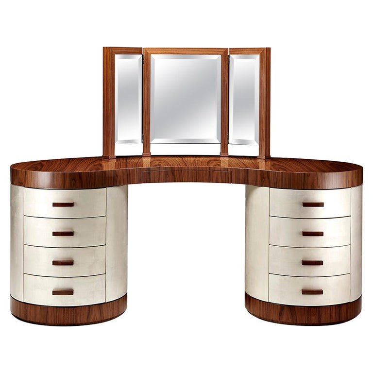 """Davidson's Contemporary, """"Chrysler"""" Dressing Table, in American Black Walnut For Sale"""