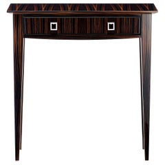 "Davidson's Contemporary, ""Ecclestone"" Console Table in Brown Macassar Ebony"