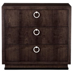 "Davidson's Contemporary ""Hatfield"" Chest in Sycamore Black and Nickel Handles"
