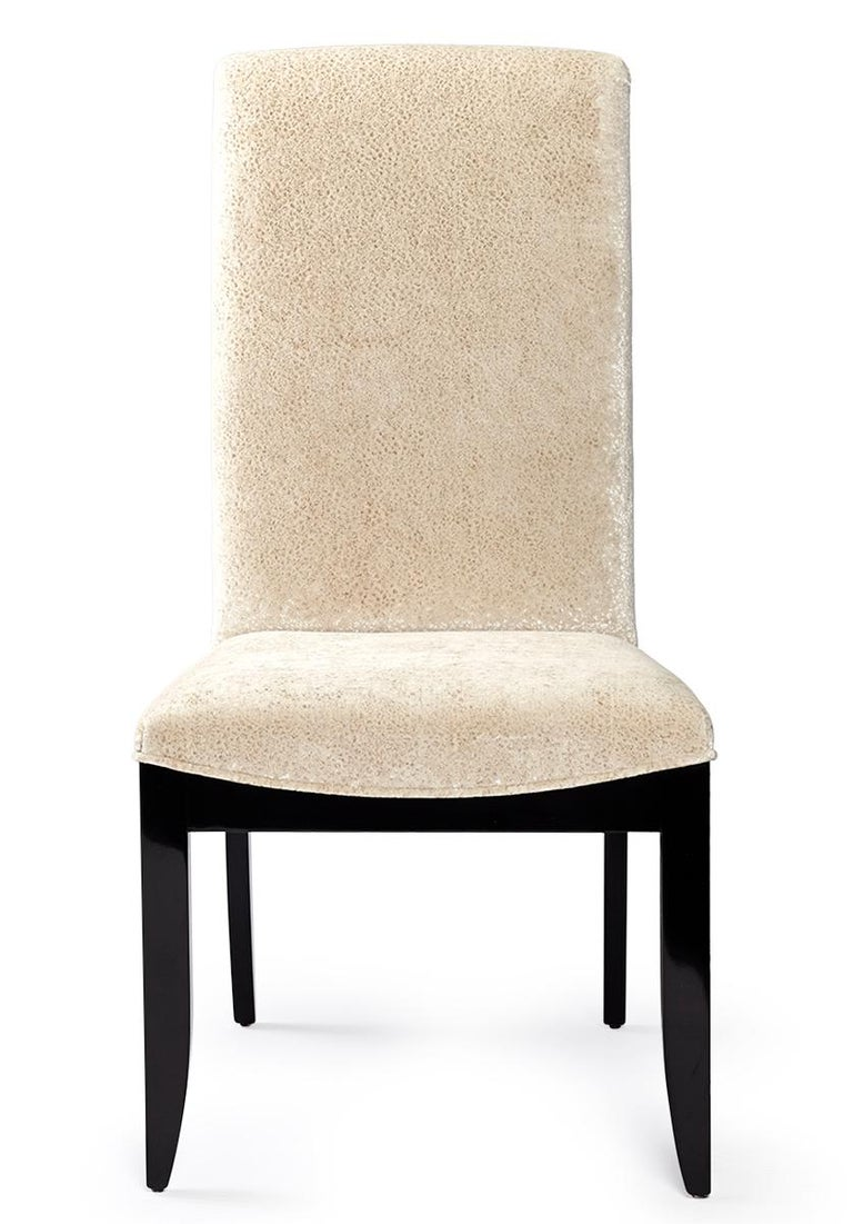 Veneer Davidson's Modern, Archer Chair, Sycamore Black Wood Frame For Sale