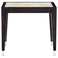 Davidson's Modern, Occasional Tavistock Table, in High-Gloss Sycamore Black Wood