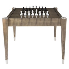 "Davidson's Rectangular ""Aldridge"" Games Table in Sycamore Dusk Wood with Nickel"