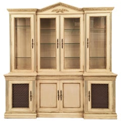 Davis Cabinet Company Lighted China Display and Buffet