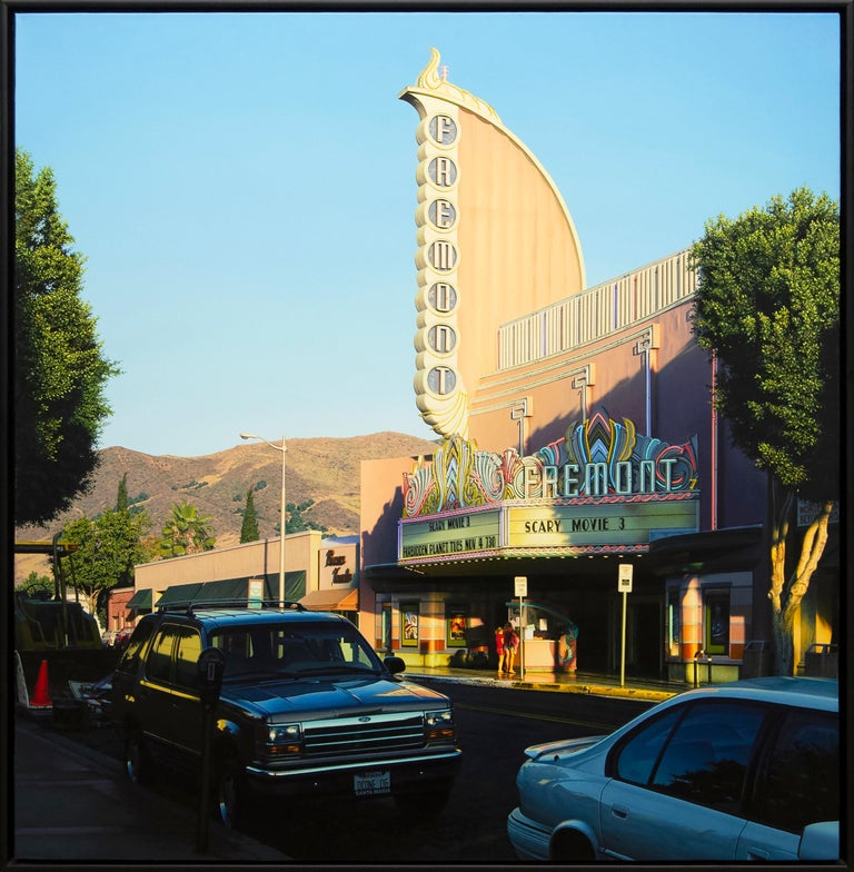 Fremont with Two Girls - Painting by Davis Cone