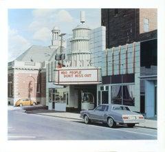 1975 Davis Cone 'Wink' Realism Blue,White USA Offset Lithograph