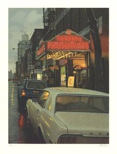 1983 Davis Cone 'Variety Photoplays, Soho' Realism Black & White USA Lithograph