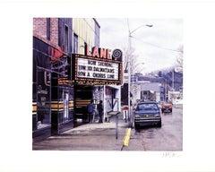 1995 Davis Cone 'Lane Theater' Realism Multicolor USA Serigraph
