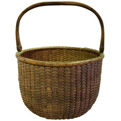 Davis Hall Nantucket South Shoal Lightship Basket, circa 1870s