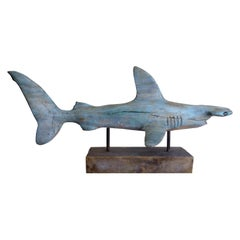 Davis Murphy Hand Carved Sculpture of a Hammerhead Shark, 2018