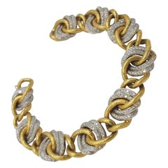 d'Avossa Bracelet in White and Yellow Gold with Diamonds