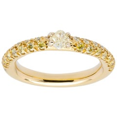 d'Avossa Ring with Fancy Natural Diamonds