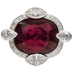David Webb Rubelite and Diamond Ring