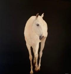 Elegant Equine by Dawne Raulet Large Contemporary Mixed Media Animal Painting