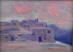 """On the Hopi Reservation"" Rare Adobe Scene by Dawson Dawon-Watson"