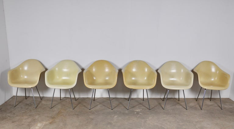 Mid-Century Modern DAX Dining Chairs by Charles and Ray Eames for Herman Miller 1960s Set of 6 For Sale