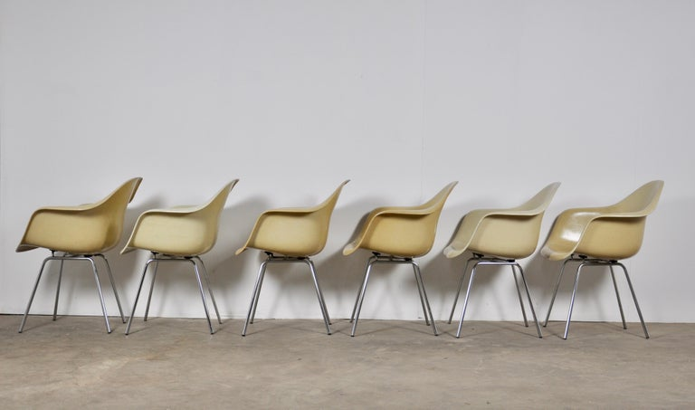 DAX Dining Chairs by Charles and Ray Eames for Herman Miller 1960s Set of 6 For Sale 1