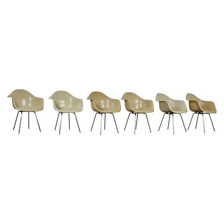 DAX Dining Chairs by Charles and Ray Eames for Herman Miller 1960s Set of 6 For Sale