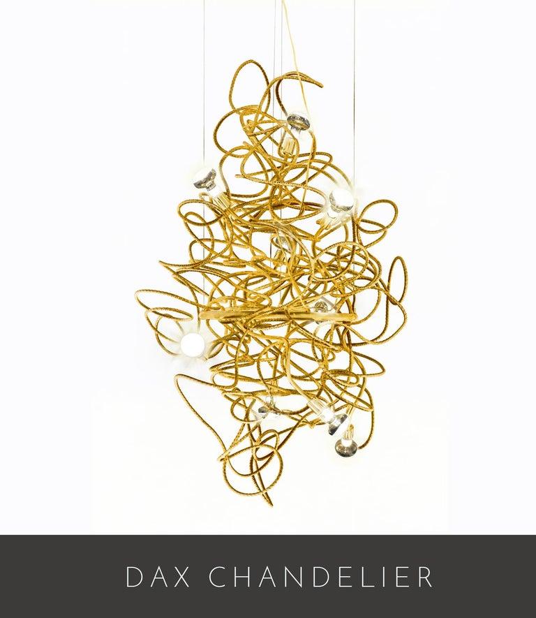 American Dax Vertical Chandelier Showroom Sample For Sale