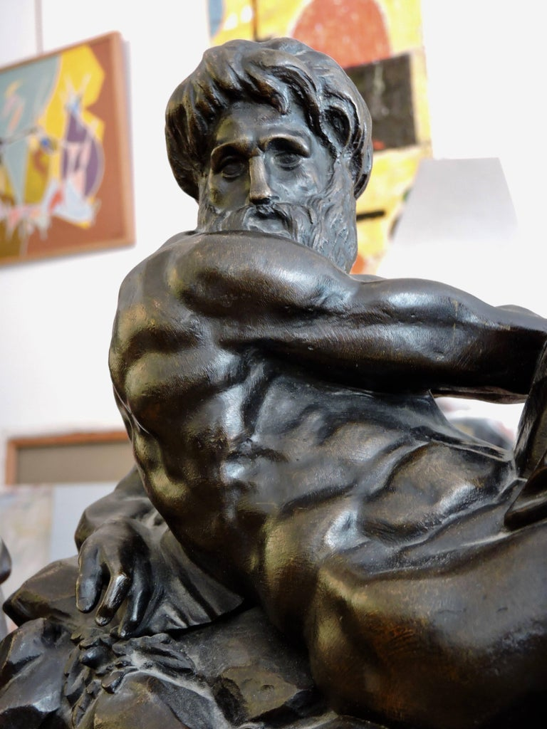 Day and Night, a Pair of 19th Century Bronze Sculpture after Michelangelo For Sale 4