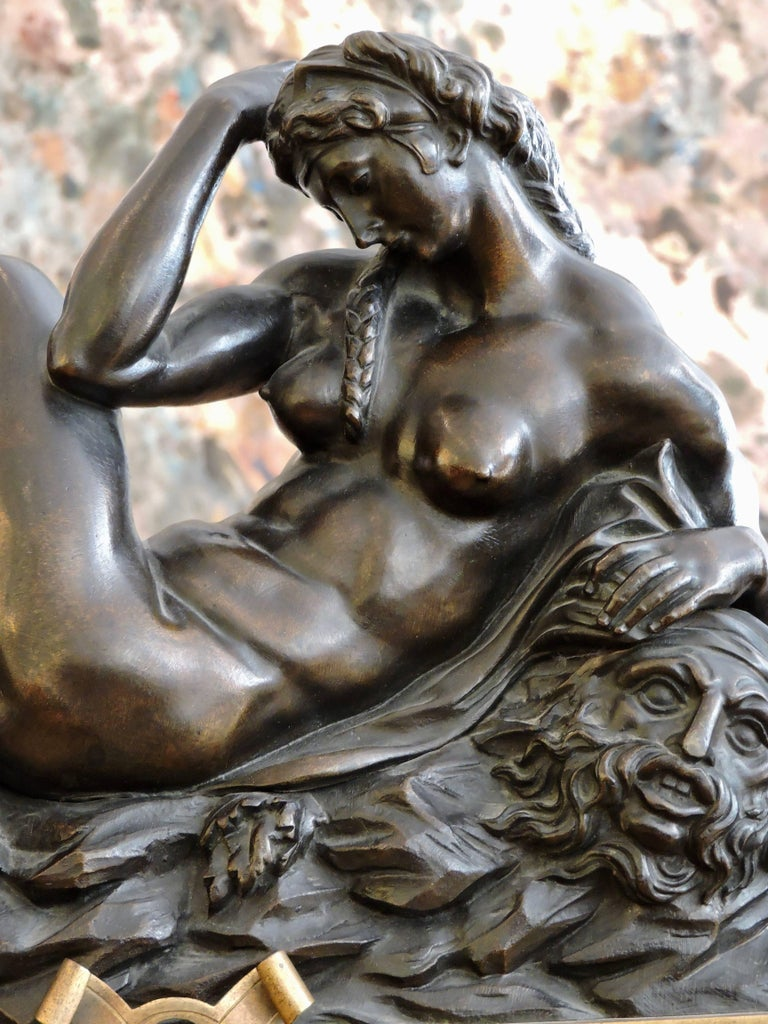 Day and Night, a Pair of 19th Century Bronze Sculpture after Michelangelo For Sale 1