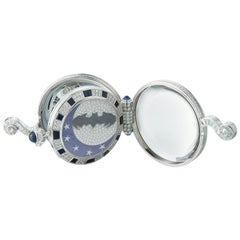 """Day and Night' Batman Automaton Pocket Watch"