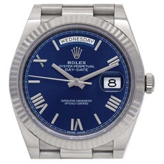 Day-Date 40, Blue Dial, Certified and Warranty