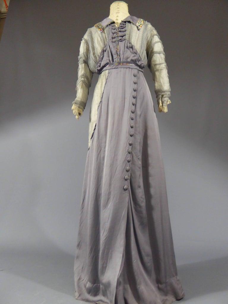 Gray Day dress circa 1905 - England For Sale