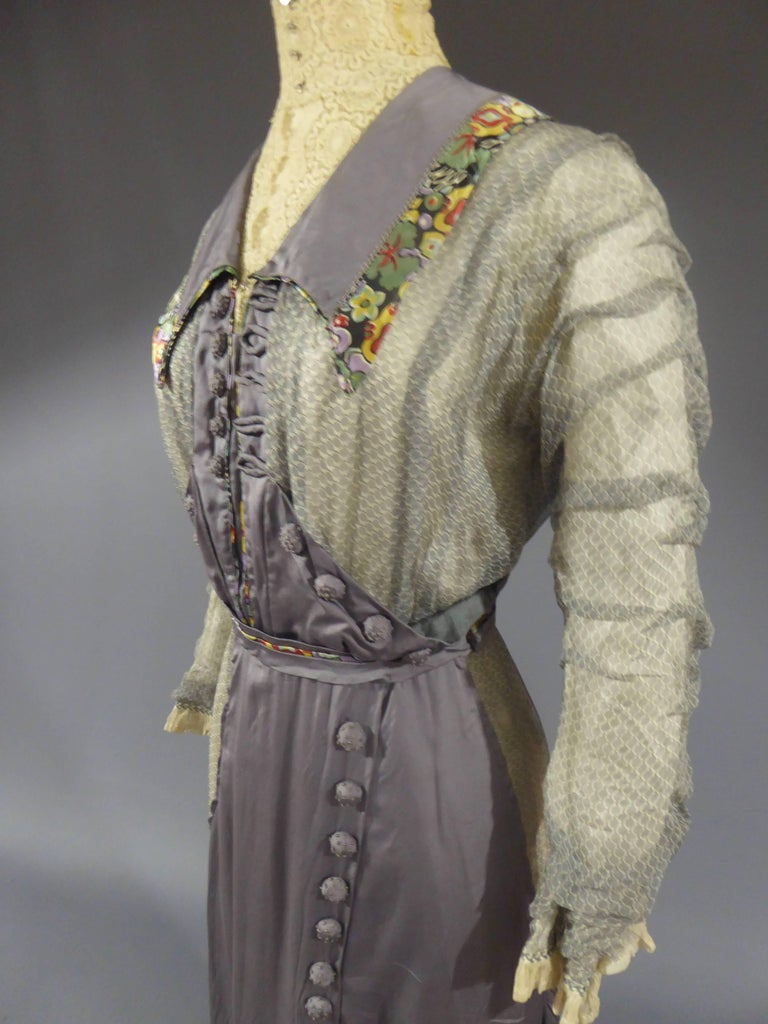 Day dress circa 1905 - England In Excellent Condition For Sale In Toulon, FR