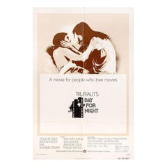 """Day for Night"" 1973 U.S. One Sheet Film Poster"