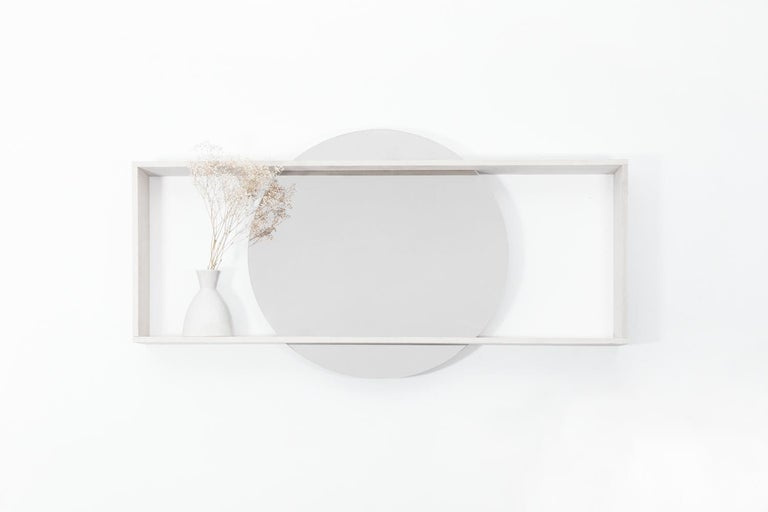 Tempered Day Mirror, Rose For Sale