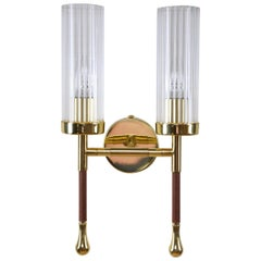 Daya-w2 Brass Wall Light, Flow 2 Collection