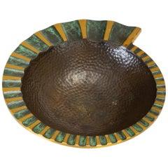 Dayagi Brothers Nautilus Ashtray in Cast Bronze