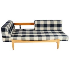 Daybed by Ib Kofod-Larsen, Oak and Original Fabric