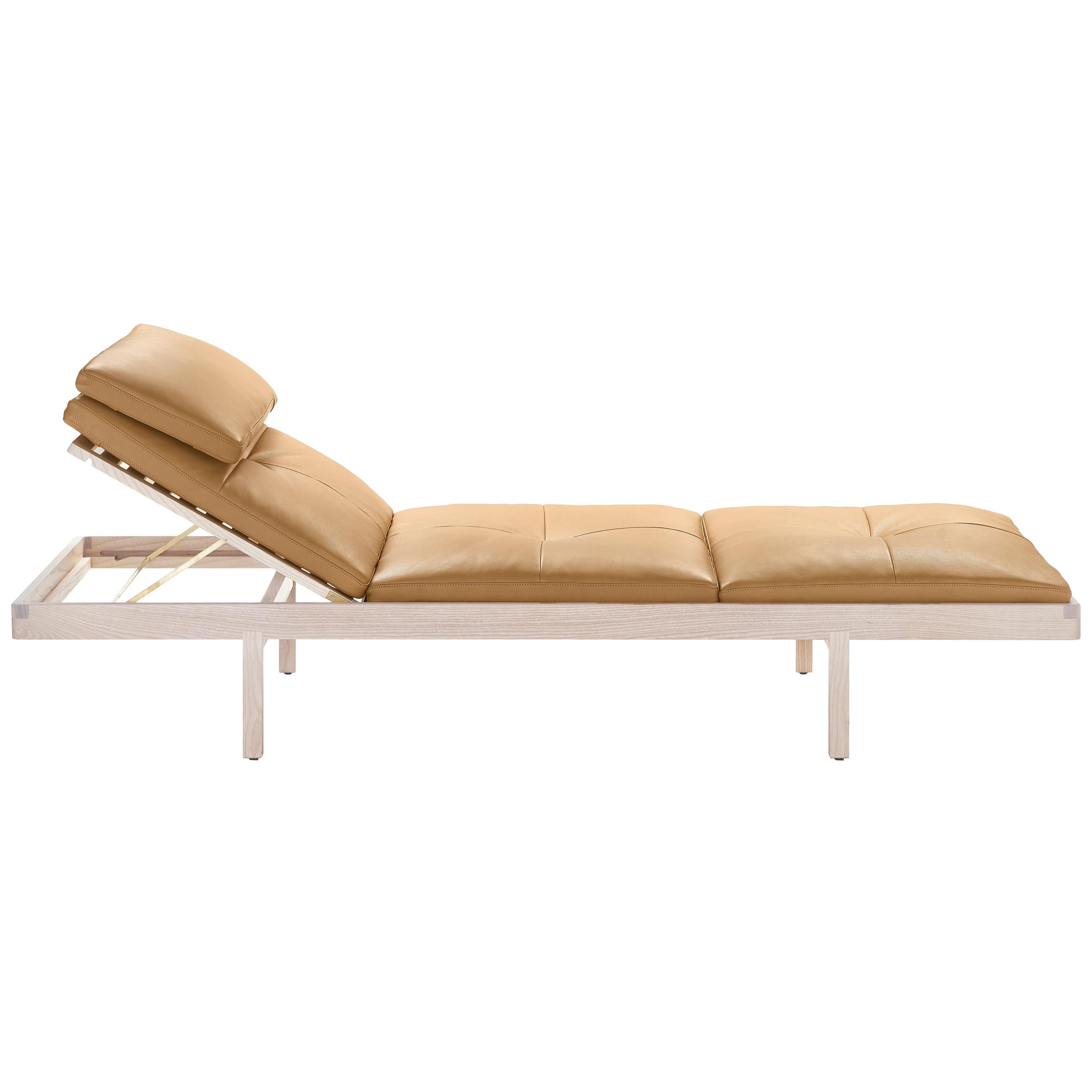 Daybed in White Ash and Leather Designed by Craig Bassam