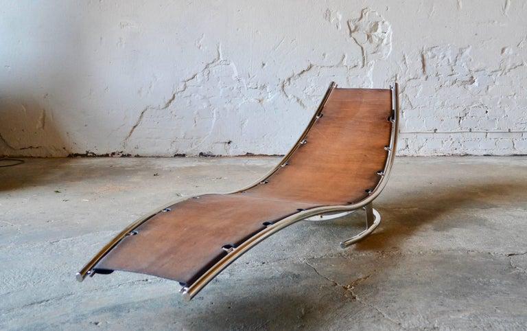 Contemporary Daybed Scandinavian Modern Design by Albin Love Lindgren Series 0. ¼, Cognac For Sale