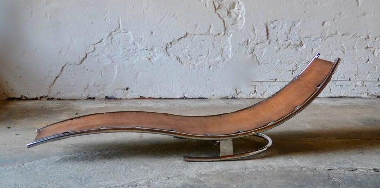 Daybed Scandinavian Modern Design by Albin Love Lindgren Series 0. ¼, Cognac For Sale 1