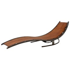 Daybed Scandinavian Modern Design by Albin Love Lindgren Series 0. 3/4, Cognac