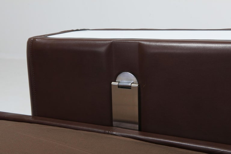 Daybed Sofa 711 by Tito Agnoli for Cinova in Brown Leather For Sale 4