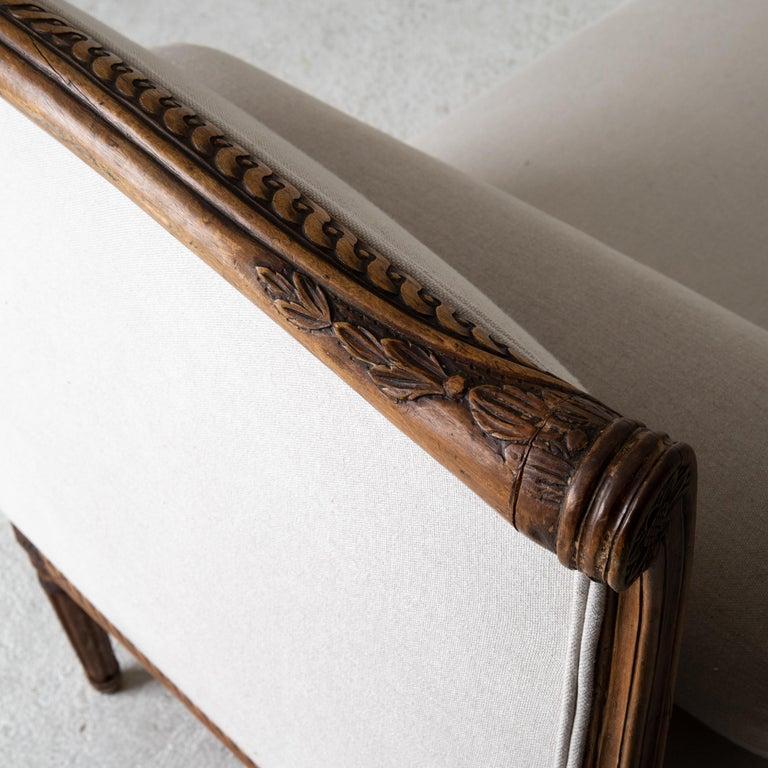 Daybed Sofa Bench Swedish Gustavian 18th Century Dark wood Sweden For Sale 5