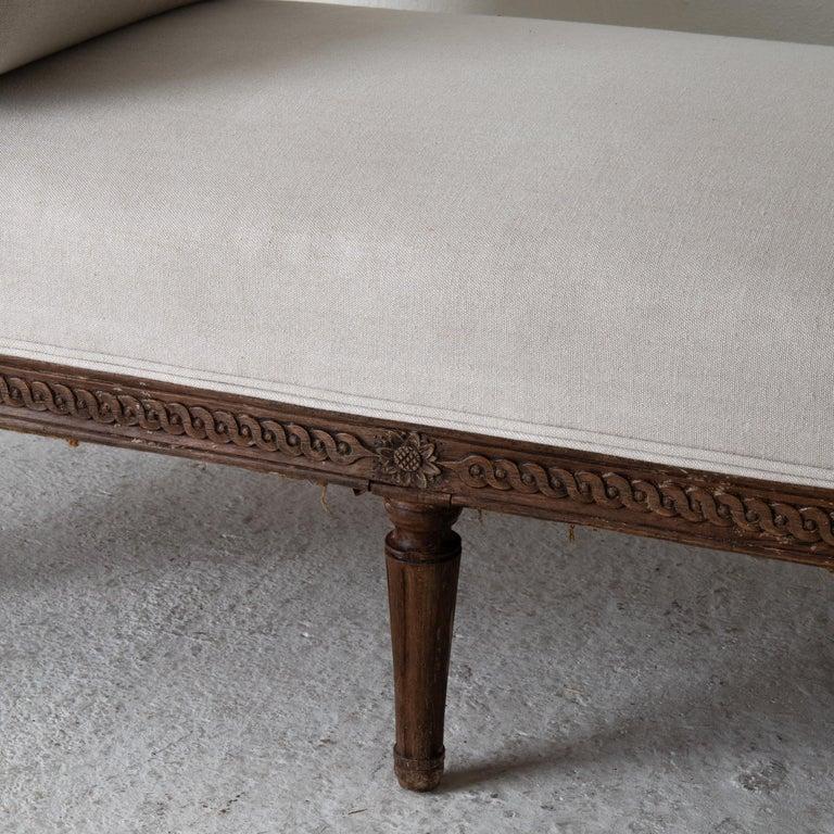 Daybed Sofa Bench Swedish Gustavian 18th Century Dark wood Sweden For Sale 6