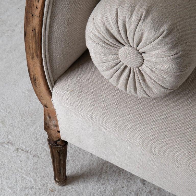 Wood Daybed Sofa Bench Swedish Gustavian 18th Century Dark wood Sweden For Sale