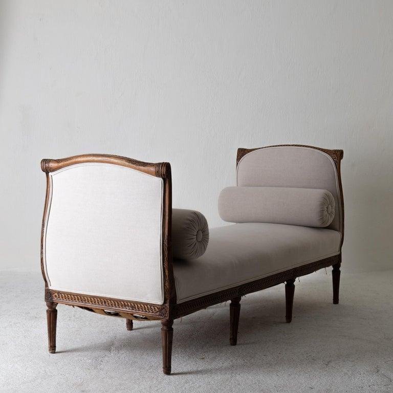 Daybed Sofa Bench Swedish Gustavian 18th Century Dark wood Sweden For Sale 1