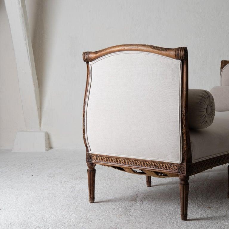 Daybed Sofa Bench Swedish Gustavian 18th Century Dark wood Sweden For Sale 2