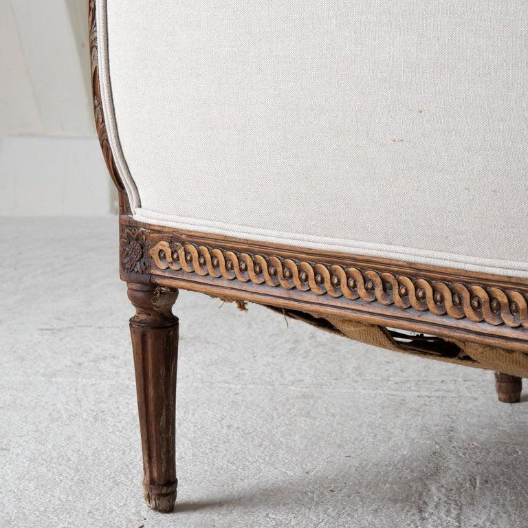 Daybed Sofa Bench Swedish Gustavian 18th Century Dark wood Sweden For Sale 4