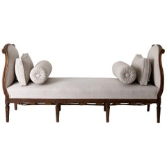 Daybed Sofa Bench Swedish Gustavian 18th Century Dark wood Sweden