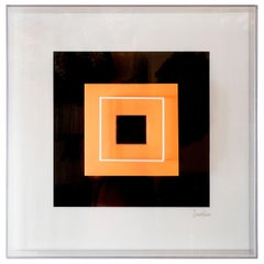 """Dayglo Square Float"" Optical Art"