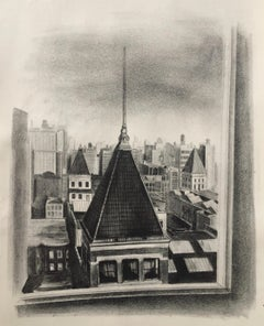 14th STREET PERSPECTIVE  (NY) Published by the WPA/FAP (Printer's Proof)