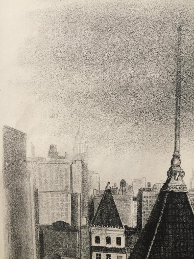 14th STREET PERSPECTIVE  (NY) Published by the WPA/FAP (Printer's Proof) For Sale 1