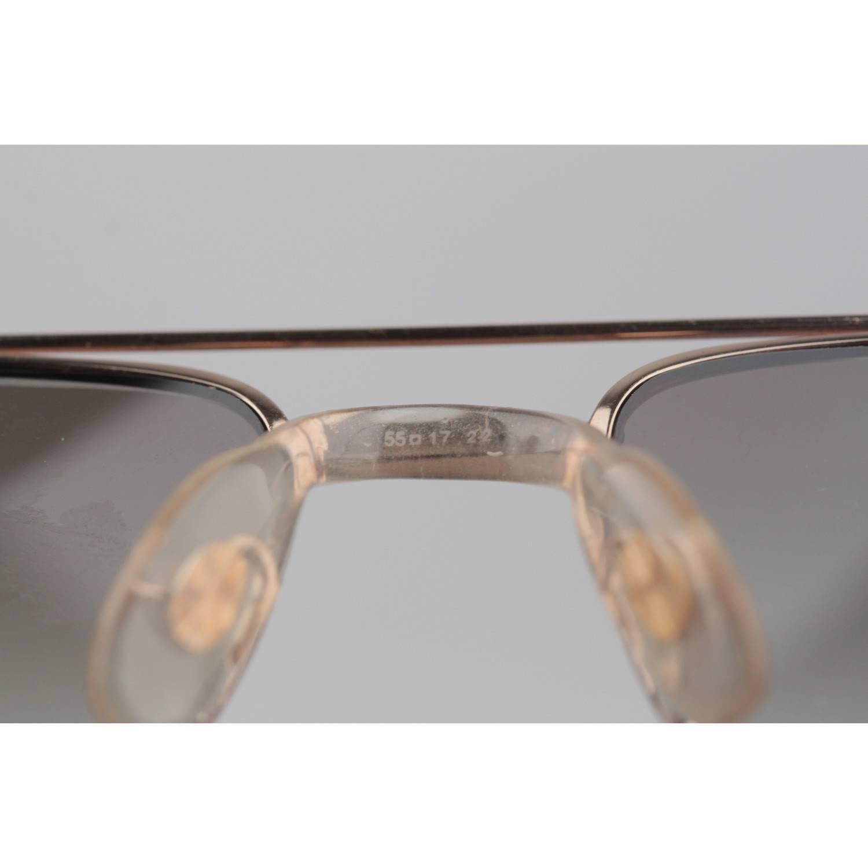 e98e4055dd Safilo Daytona Vintage Brown Metal Pilot Sunglasses For Sale at 1stdibs
